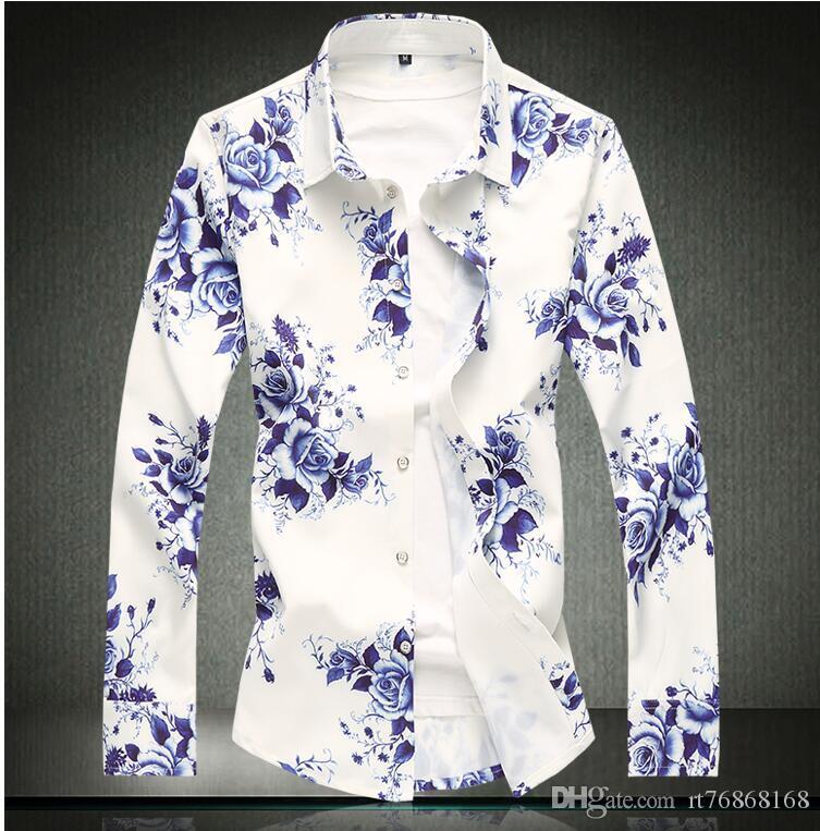 Herrenbekleidung & Zubehör SchöN Hign Qualität 2019 Neue Marke Mens Shirts Männlichen Kleid Hemd Herrenmode Langarm Business Formale Shirt Asiatische Größe 5xl Hemden