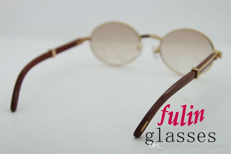 Ücretsiz Kargo 18 K Altın Vintage Ahşap Güneş Gözlüğü metal çerçeveler erkekler için gerçek Ahşap tasarımcı güneş gözlüğü vintage ahşap Gözlük 7550178 SıCAK