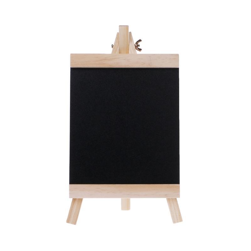 Desktop Message Board Blackboard Easel Chalkboard Kids Wood Writing Boards  Collapsible School Supplies Size M