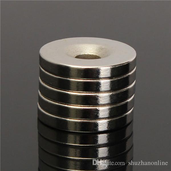N50 Magneti rotondi a testa svasata 20x3mm Magneti al neodimio terra rara Foro 5mm