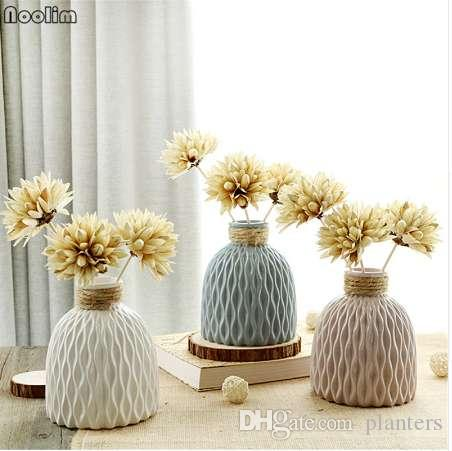 NOOLIM Japanese Water Wave Pattern Fioriera in ceramica per fiore idroponica Fiori decorativi Pot Mini Pot Home Garden Decor