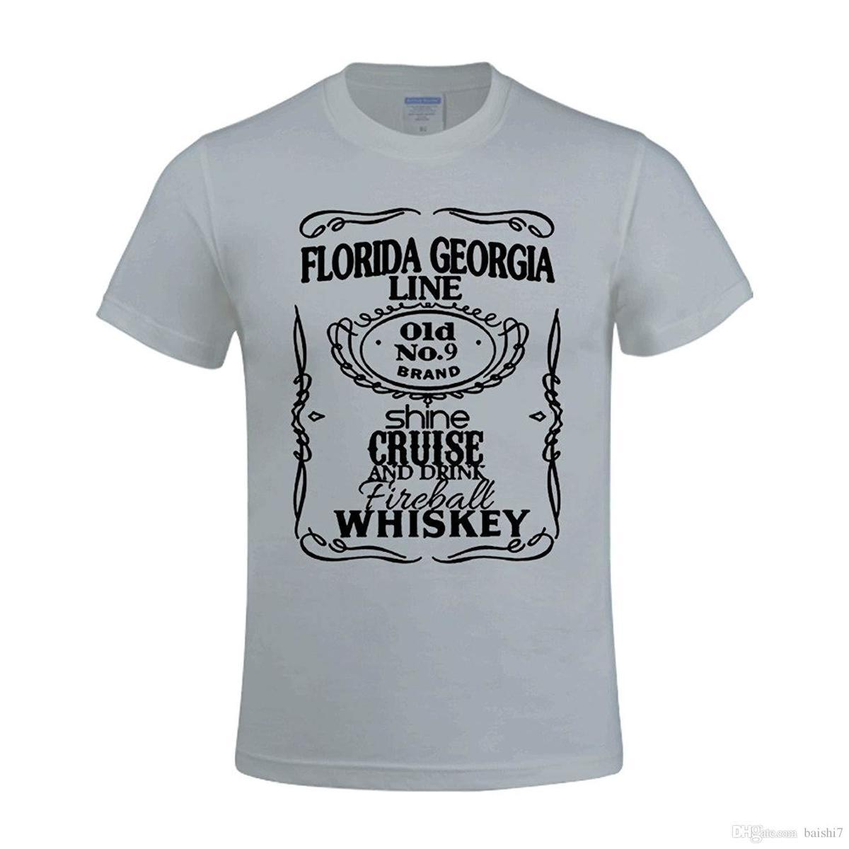 Moot Cruise Florida Georgia Line Men Design Crew Neck T Shirt Grey