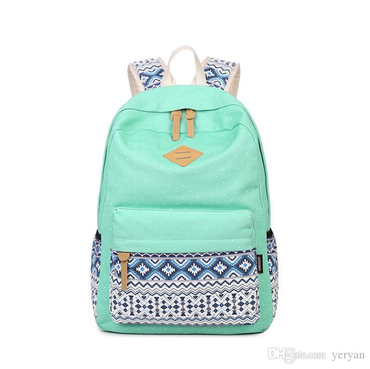 Wholesale Women Backpack School Bag Teenagers Girls Vintage Casual Printing School  Bags Ladies Backpack Female Back Pack Shoulder Bag Rucksack Backpack Boys  ... b60c1b6992