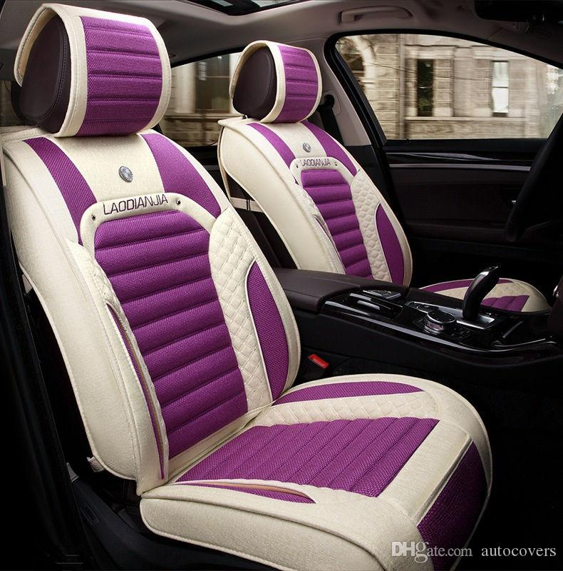 Universal Fit Car Interior Accessory Seat Covers For Five Sedan Durable PU Leather Full Set SUV Automotive Infant Liner
