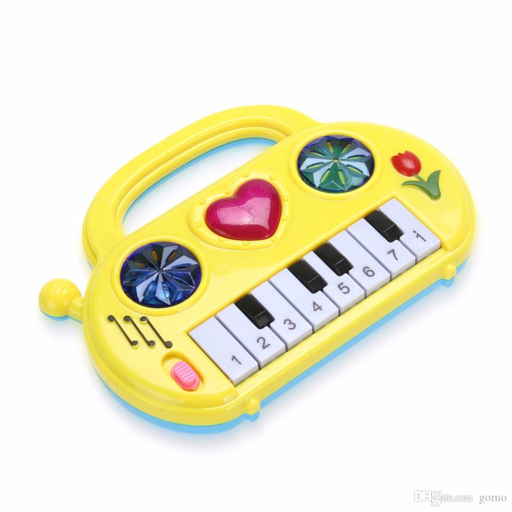Kids Music Toy Children Musical Developmental Mini Piano Portable Sound  Educational Learning Music Funny Toy Baby Color Random