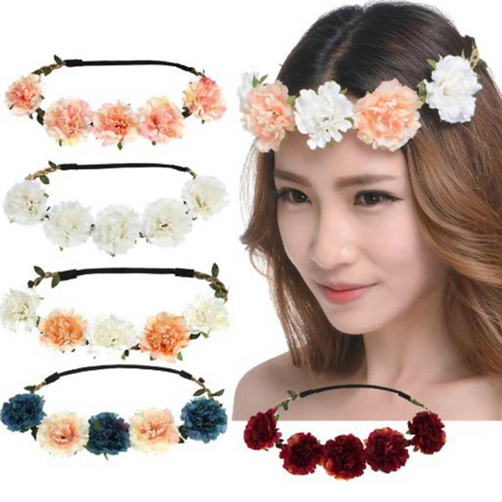 2018 Summer Fashion Bohemian Handmade Flower Crown Wedding Bridal
