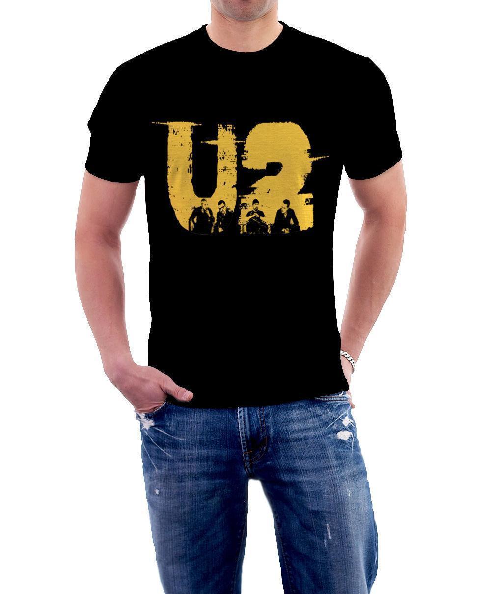 Compre 2018 Nueva Camiseta O Cuello Hombres U2 Rock Band Póster Diseño  Impreso Manga Corta Camisetas A  12.08 Del Lijian85  9e845e58dfd1d
