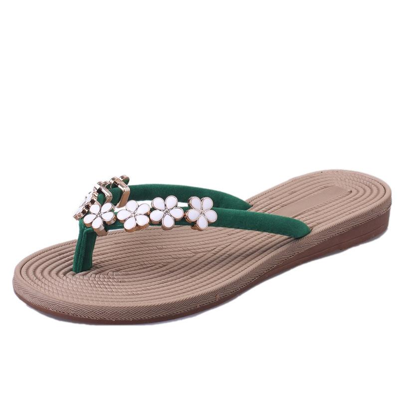 c6f9d911f85766 2018 New Summer Slippers Women Fashion Flip Flops Beach Platform Sandals  Ladies Flowers Decor Shoes Non Slip Toe Clip Bohemia Waterproof Boots  Comfortable ...