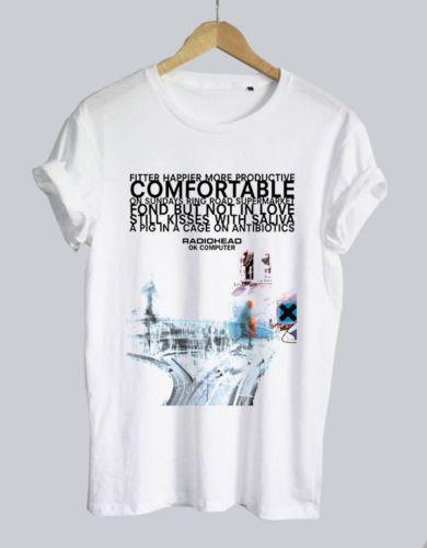d58324028f2 Radiohead Band Ok Computer Logo White Men Woman T Shirt Unisex Tumblr Tee T  Shirt Men Casual Short Sleeve Thanksgiving Day Custom Big Size T 7 T Shirt  Funny ...