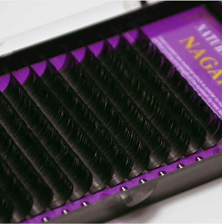 كل حجم BCD حليقة الفردية المنك الرموش رمش تمديد لينة أسود وهمية العين لاش 9-14mm أداة ماكياج