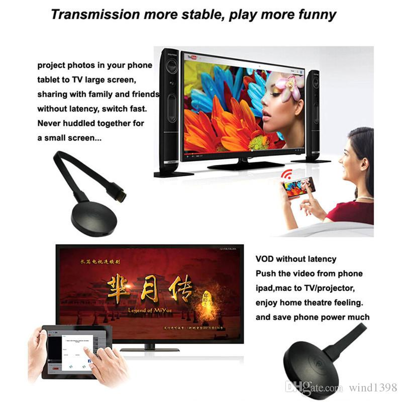 Anycast G2 WiFi HDMI Display Dongle Receiver Adapter 1080P Airplay Miracast DLNA Media Streaming Crome Cast Chromecast TV Stick