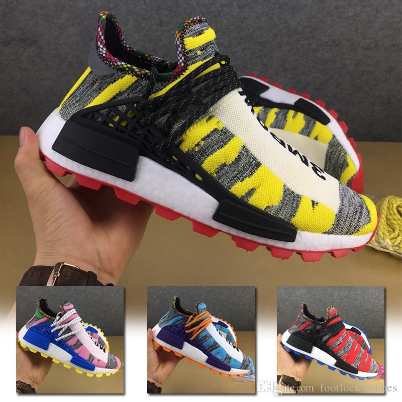 d04925cd2 2019 2019 Pharrell Williams X Human Race Solar Pack Running Shoes For Men  Women Sport Holi Cream Trail Designer Sneakers Men Trainers Size 36 46 From  ...