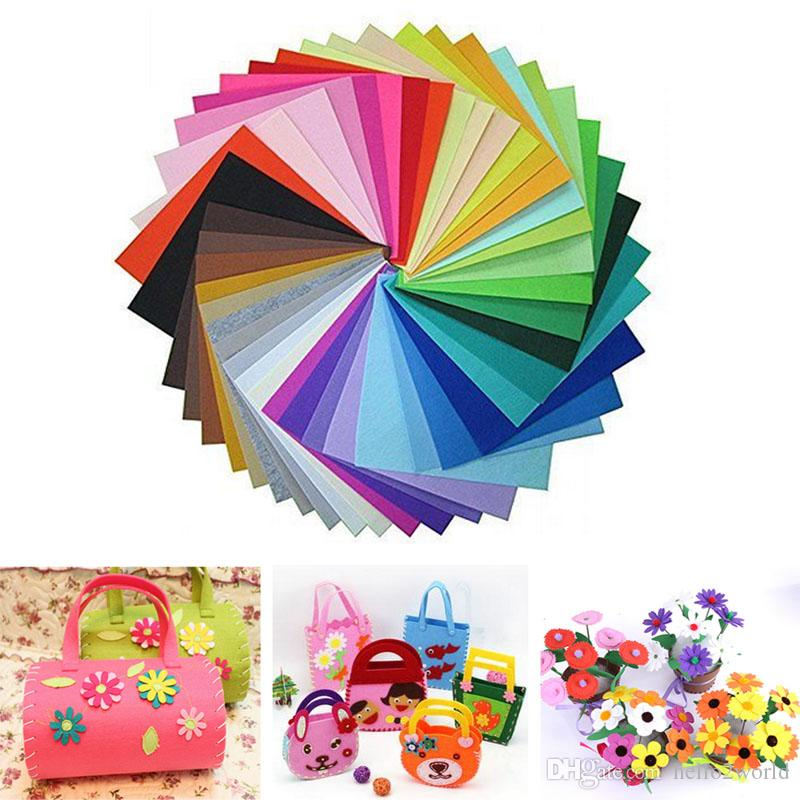40PCS Non-woven Hard Felt Fabric polyester sleeve cloth Kids DIY Christmas Craft 10*15cm Mixed Color Home Decoration