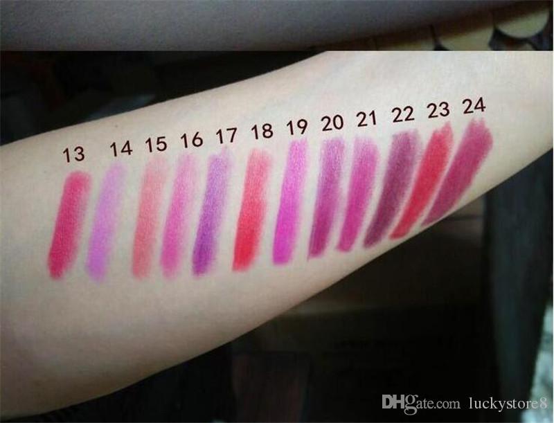 2019 hot matte batom m lustre de maquiagem retro batons geada sexy matte batons 3g 25 cores batons com nome em inglês