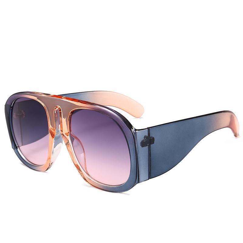 605222d62fd60 Compre 2018 Oversized Quadrado Óculos De Sol Das Mulheres Grande Quadro  Multicolor Designer De Marca De Luxo Feminino Único Óculos De Sol Shades Wg  070 De ...