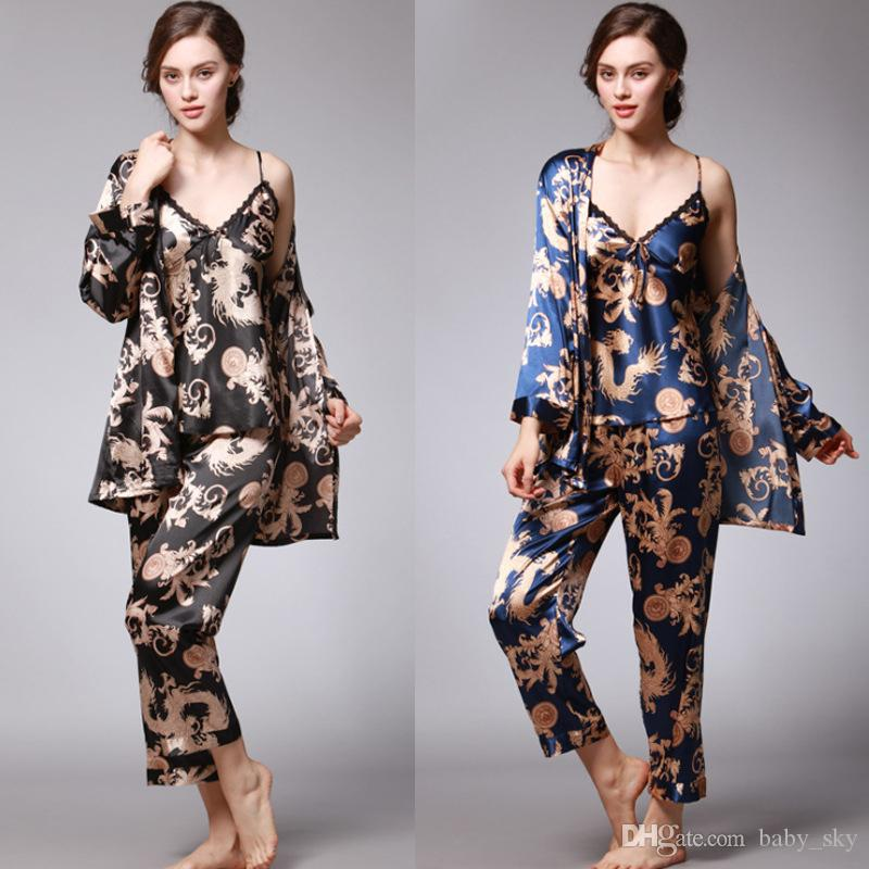 08f925e239 Womens Pajamas Set Summer Fashion Vintage Print Soft Home Clothing Suit Mix  Style Boutique Ladies Clothes Girls Pajamas Sale Little Boys Pajamas From  ...