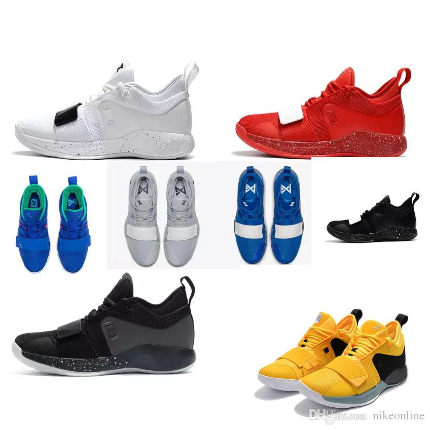 new concept 5b24c bc6c7 Cheap new 2018 Mens PG 2.5 basketball shoes 2s Bruce Lee Yellow Black Paul  George PG2 Elite air flights sneakers boots for sale size 7 to 12