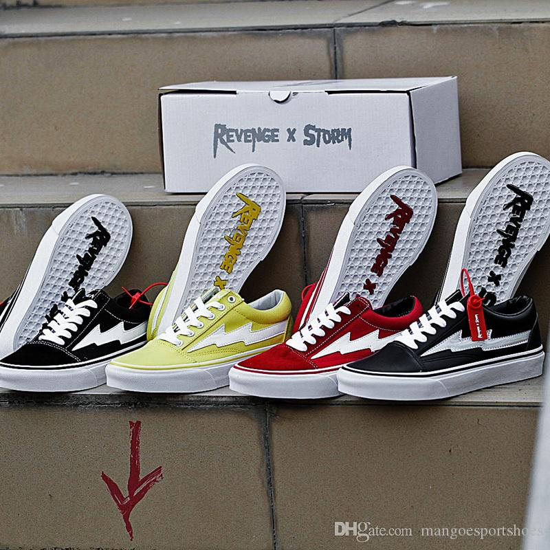 Best New VANS Revenge X Storm Old Skool Canvas Designer Sneakers Womens Men Low Cut Skateboard Yellow Red Blue White Black really cheap price outlet 100% guaranteed HI910y