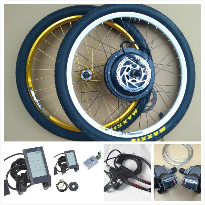 wholesale 20/26/27.5/29/700C Electric bike wheels 48V 1000W MTB motors 135mm beach bicycle Electric rear wheel