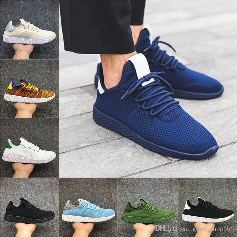 f3413256a9f81 2018 Newest Pharrell Williams X Stan Smith Tennis HU Primeknit Men Women  Running Shoes Sneaker Breathable Runner Sports Shoes Size 36 45 Running  Trainers ...