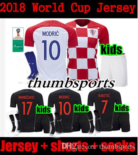 dc6c9daaba7 KIDS 2018 Home Away Children Soccer Jersey MODRIC PERISIC RAKITIC MANDZUKIC  SRNA KOVACIC Red KALINIC Hrvatska Footballll Jerseys Soccer Jerseys  Children's ...