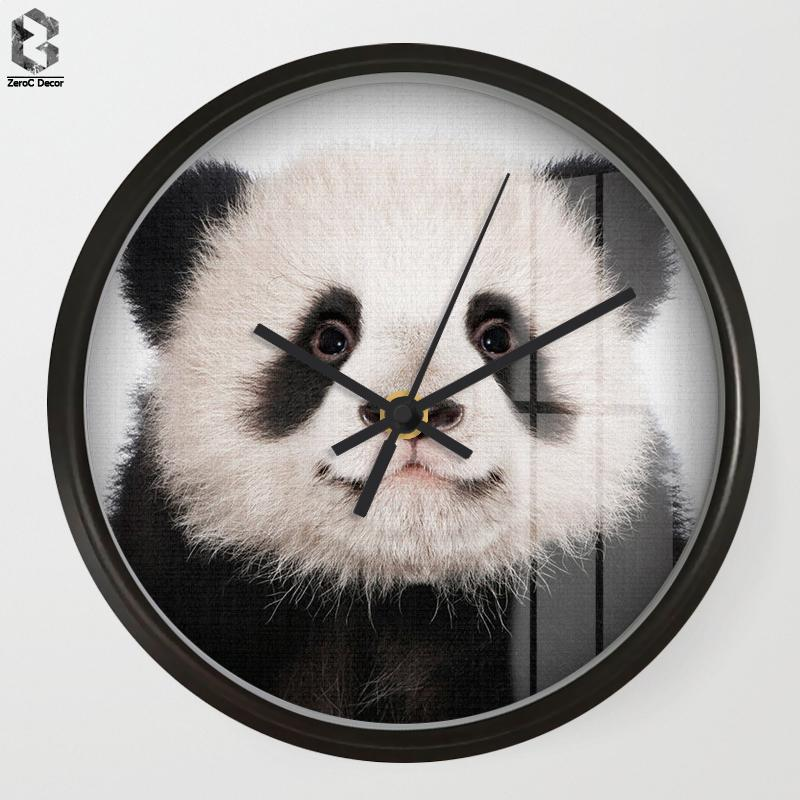 Awesome Chic Art Wall Clock Panda For Kids Room Wall Decor, Table Decorative Mute  Quartz Clocks Nordic Saat Nursery Home Decoration Novelty Clocks Novelty  Wall ...