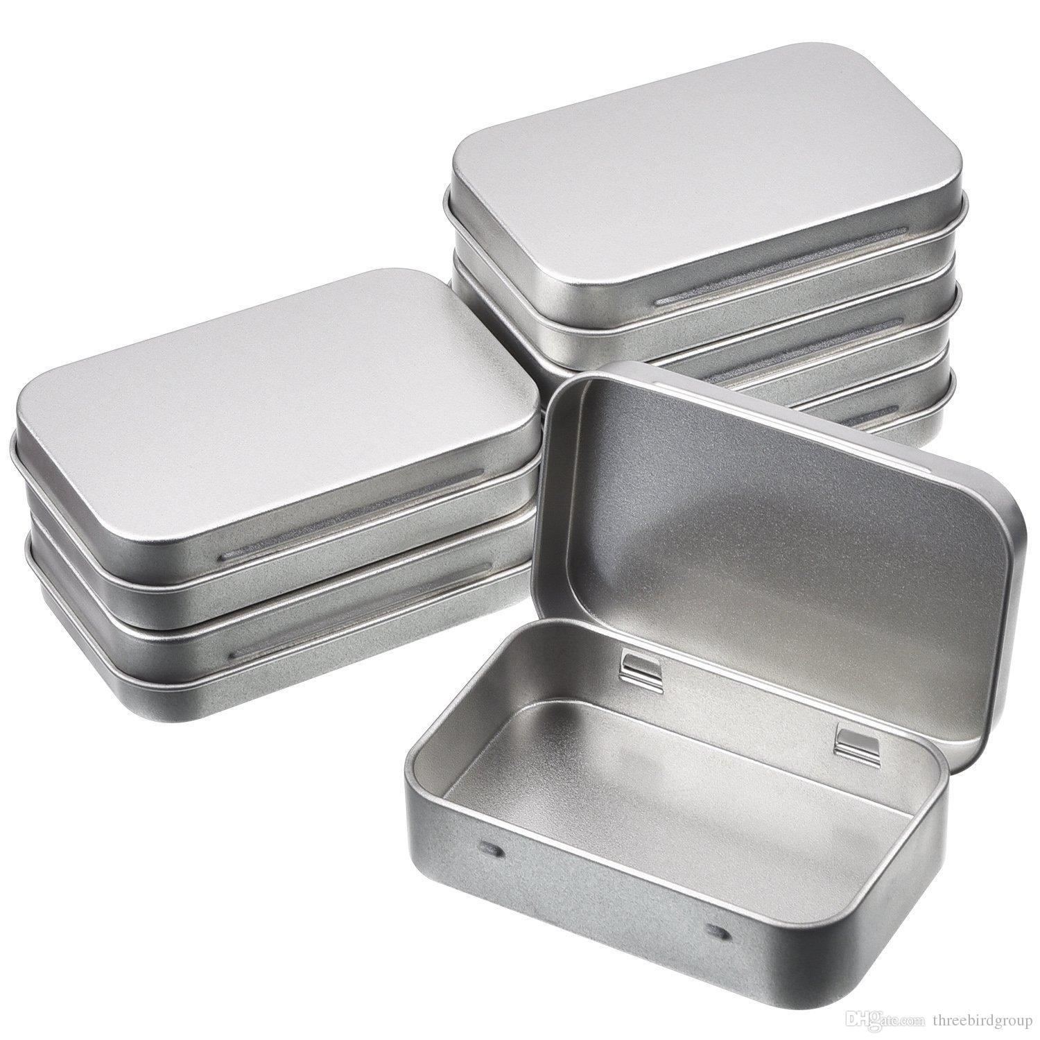 Silver Rectangular Tin | The Container Store |Tin Storage Containers