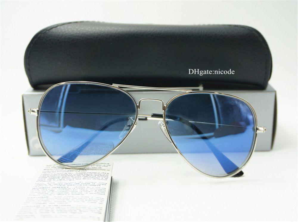 1955aeb90d8 Classic High Quality Pilot Sunglasses Designer Brand Mens Womens Vintage  Mirror Sun Glasses UV400 Eyewear 58mm 62mm Gradient Glass Lenses Heart  Sunglasses ...