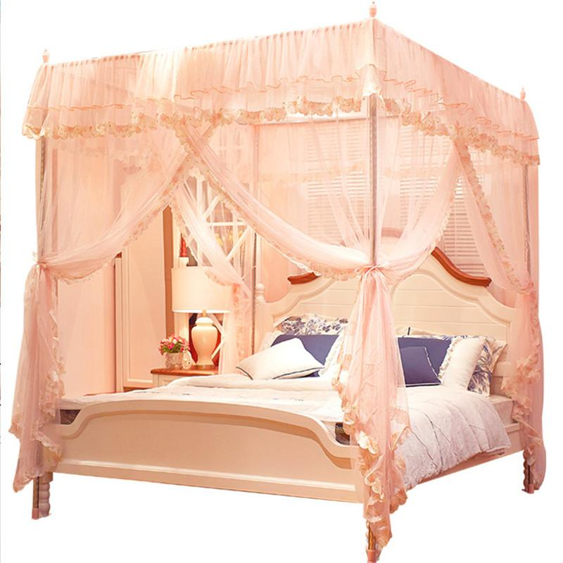Byetee Lace Three Door Bed Canopy With Stainless Steel Luxury Mosquito Net Adult Canopy Beds Netting Home Decor Moustiquaire Mosquito Screen Mosquito Net ...  sc 1 st  DHgate.com & Byetee Lace Three Door Bed Canopy With Stainless Steel Luxury ...