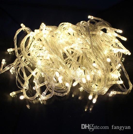 特別オファーピュアホワイトブルーの結婚式の装飾妖精ライト10個100ライト本物のLED 10m赤い弦の妖精のクリスマスの結婚式W01