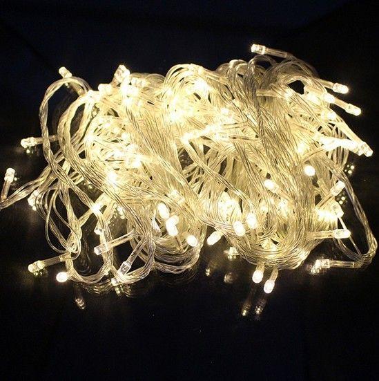 Özel Teklif Saf Beyaz Mavi Düğün Dekorasyon Peri Işıkları 10 Adet 100 Işıklar Gerçek Led 10 m Kırmızı Dize Peri Noel Düğün W01