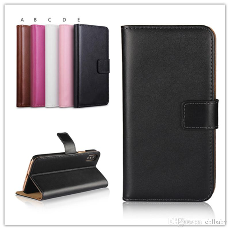 purchase cheap 98b64 b7479 For iphone 8 5 6S 7 Plus Real Genuine Leather Wallet Credit Card Holder  Stand Case Cover For iphone X 10
