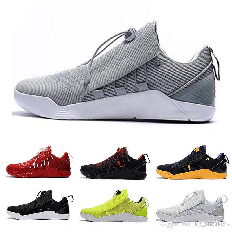 newest f07db 1e065 Acheter Nike Kobe Ad Nxt 12 Basketball Shoes Basketball Chaussures 12  Mambacurial Mens Sneakers Sports Running Casual Oreo Noir Blanc Rouge Loup  Gris Us 7 ...
