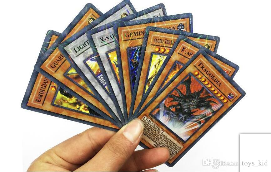 2018 Newest / Yugioh Flash Cards Baby Cards Game Toys English Version Boys Girls Yu Gi Oh Games Collection Cards Christmas Gift