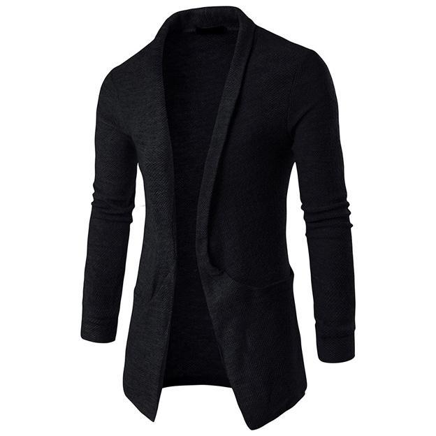 Nouveautés Arrive Automne Hiver Hommes Cardigans Chandails solides Vêtements Décontractés Pour Hommes Chandail Chaud Tricots avec Grande Poche