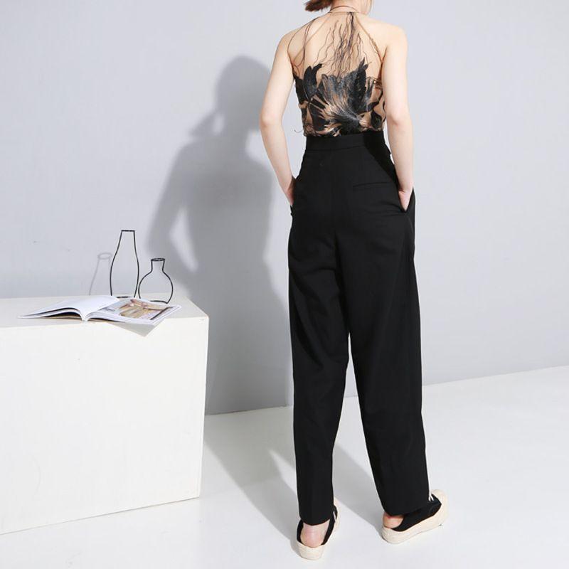 [EEM] 2018 Yeni Yaz Moda Gelgit Nakış Çiçek Halat Kaşkorse Çıplak Omuz Perspektif Kısa Kadın Yelek S896
