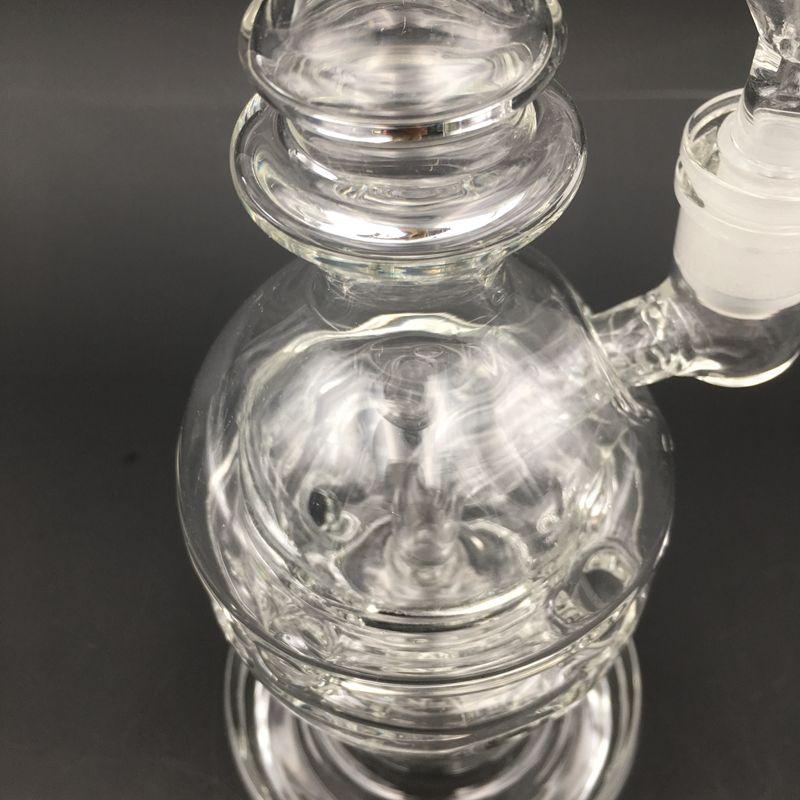 Tuyaux d'eau de perc de douche Perc de verre d'oeufs transparent avec une pommeau d'eau perc avec 14mm de bangers BANGER Bongs Huile plate-forme SWISS PERC DAB