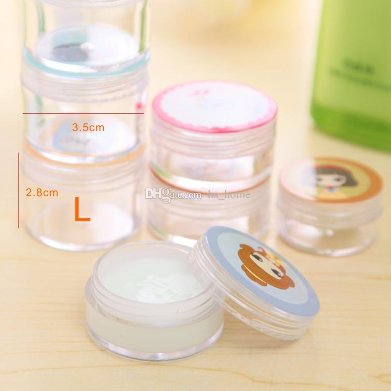Plastic Bottle, paste, thick liquid, separated Cream bottle, Cartoon bottle cap,3 kinds of specifications,1 bags /.