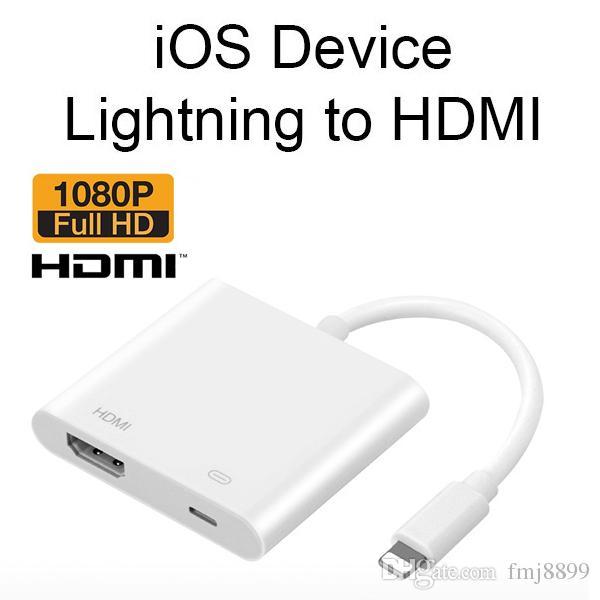 New Lightning to HDMI Cable Adapter Iphone to TV Projector Adapter hdmi Converter Lightning Digital AV Adapter Converter