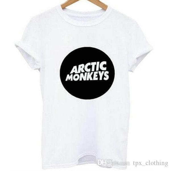 Turner Arctic Monkeys Logo Gray Men Woman Unisex Custom T-shirt Tee Short Sleeve Cheap Sale Cotton T Shirt Tops & Tees T-shirts