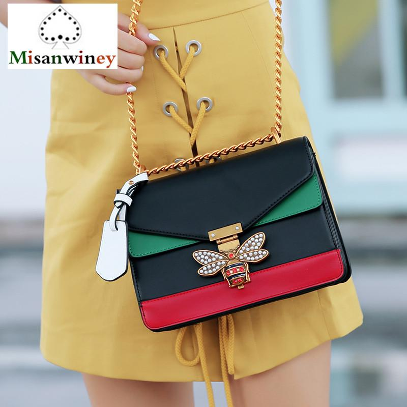 0ec022b32d Luxury Brand Women Messenger Bags Bee Logo Handbag Crossbody Bags For Lady  Diamond Shoulder Bag Famous Designer Clutch Purse Sac Designer Handbags On  Sale ...