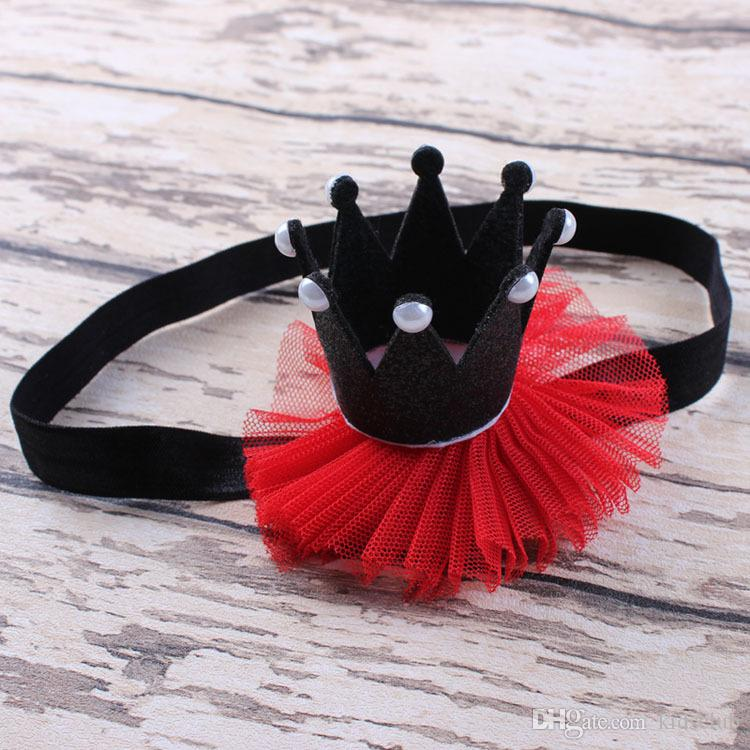 European and American Style Fabric Material Fashion Cute Bow Headdress Men and Women Baby Crown Headband