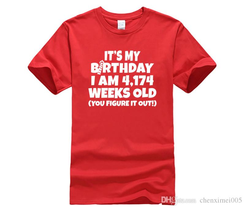 I Am 4174 Weeks Old Happy 80th Birthday T Shirts Only Awesome Tee From Chenximei005 1421