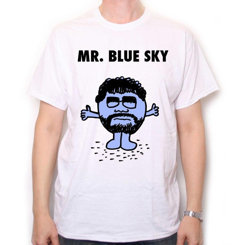 Summer 2016 MR BLUE SKY T-shirt A Tribute To Jeff Lynne & Elo Classic Rock Tops Tee Shirts Hipster O-neck Funny T-shirt