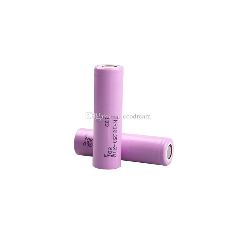 Promotion item battery lithium ion 3.6v 3000mAh 15A discharge INR18650-30Q rechargeable battery for electric skateboard
