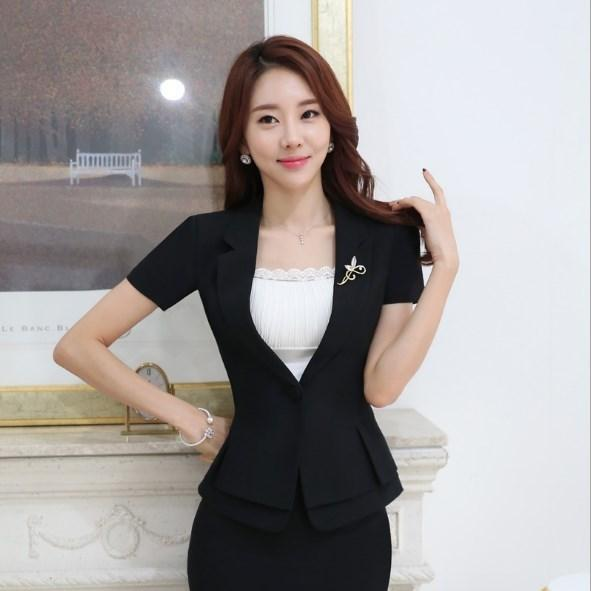 2 Pieces Set Clothes Office Uniform Designs Women Business Suits With Skirt Summer Casual Mini Skirt Suits Female Work Outfit