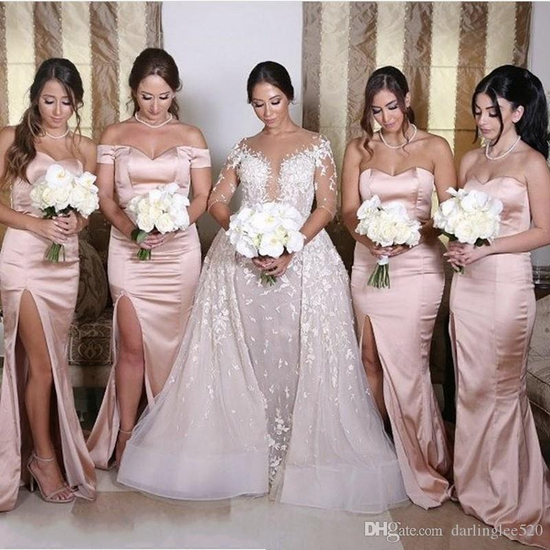 [تصویر:  pink-bridesmaid-dresses-long-a-line-stain.jpg]