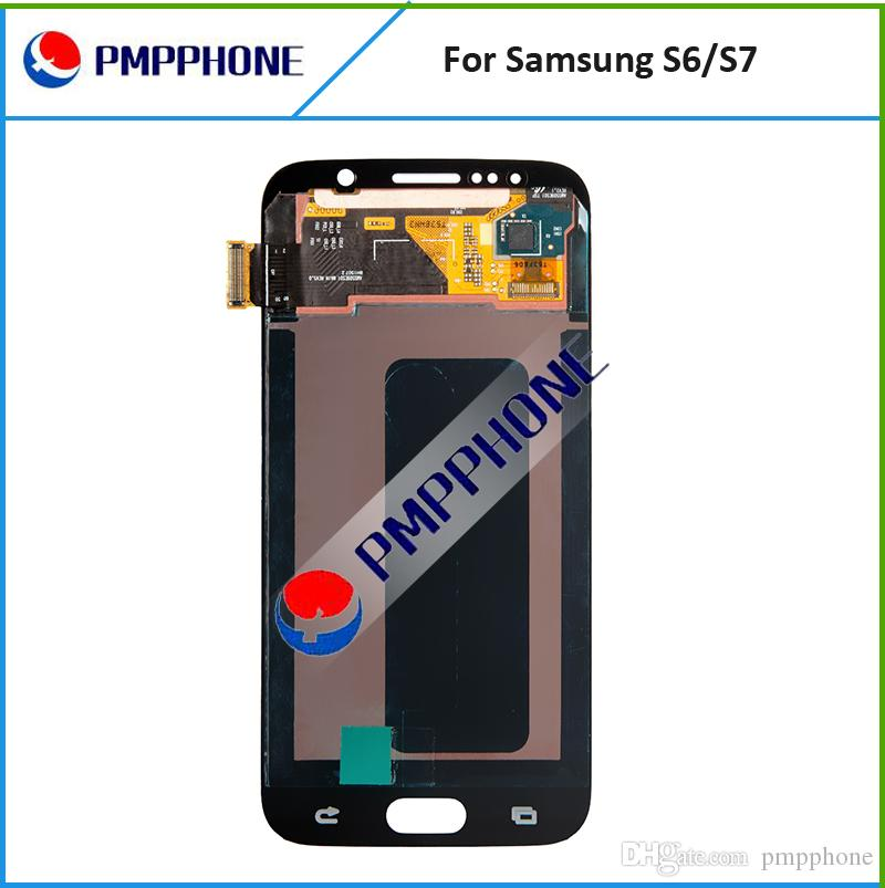 AAA LCD Display For Samsung Galaxy S6 G920 G920F G920FD G920A GALAXY S7 G930 G930F G930FD Touch Screen Digitizer Assembly LCD Replacement