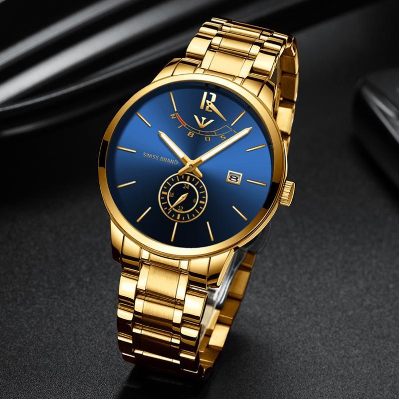 f49be855c79 Compre Nibosi Homens Relógios Top Marca De Luxo Relógio De Quartzo Homens  Militar Esporte Relógio Dropship Relojes Hombre Hijinky Relojes Masculino  2318 De ...