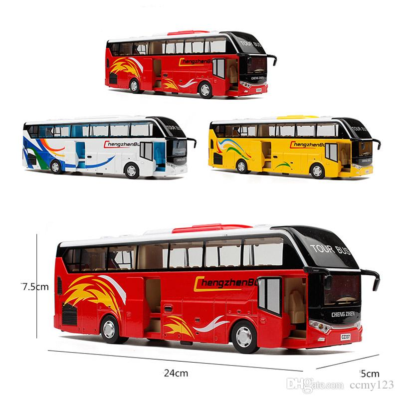 Diecast School Bus Model, 24Cm Metal Toy, Brand Alloy Car For Boys With Gift Box/Openable Doors/Music/Light/Pull Back Function